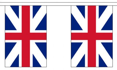 KINGS COLOURS BUNTING - 3 METRES 10 FLAGS